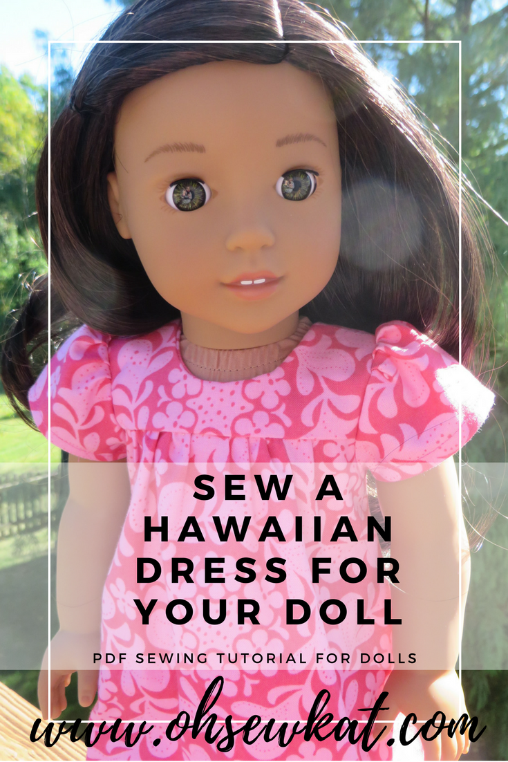 Sew a dress for Nanea Tutorial for dolls