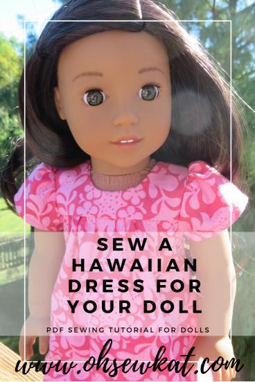 Sew a dress for Nanea Tutorial for dolls