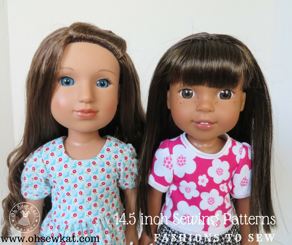 Glitter Girls dolls sewing pattern by oh sew kat