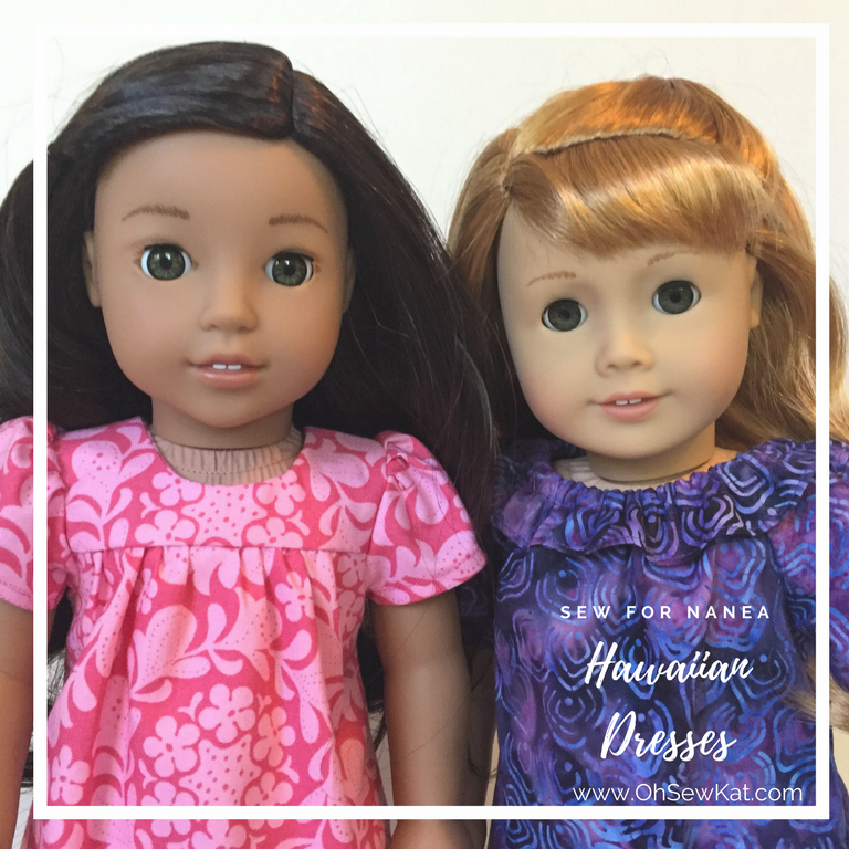 Hawaiian dresses for dolls sewing patterns