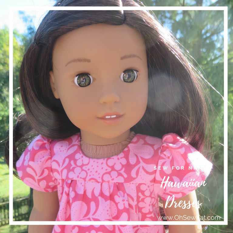 Sewing patterns for Hawaiian dresses for dolls