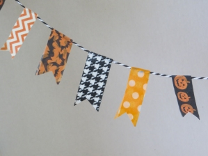 Washi Tape Halloween Banner tutorial for Dolls