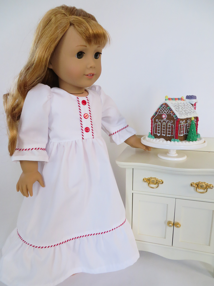 Nightgown Sewing Pattern for 18 inch dolls