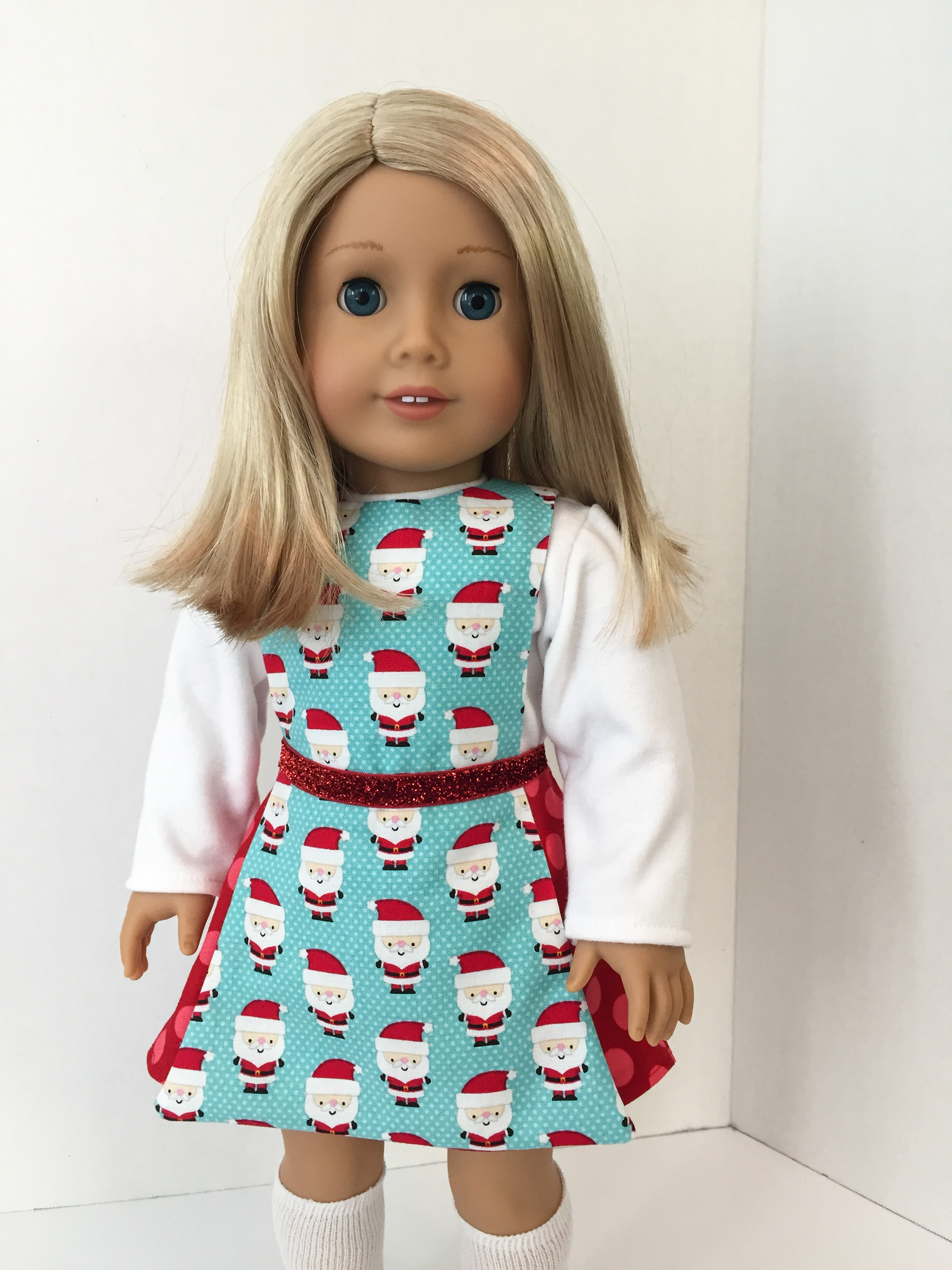 Easy sewing pattern to make 18 inch doll clothes. Print at home PDF patterns by oh sew kat for dolls. #ohsewkat #dollclothes #sewingpattern #jumpingjack #18inch