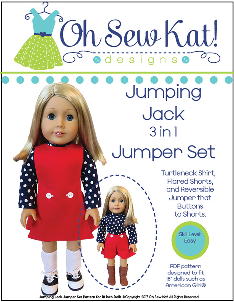 Jumping Jack Jumper for dolls sewing pattern