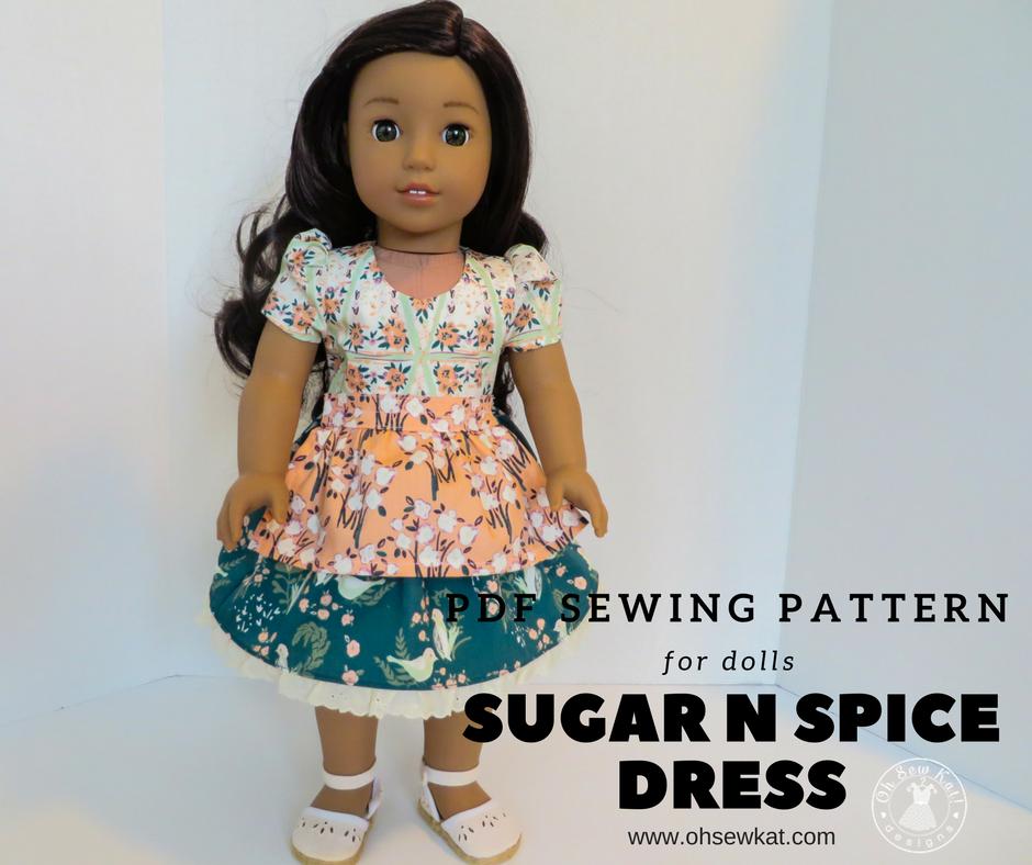 Doll dress pattern by Oh Sew Kat!
