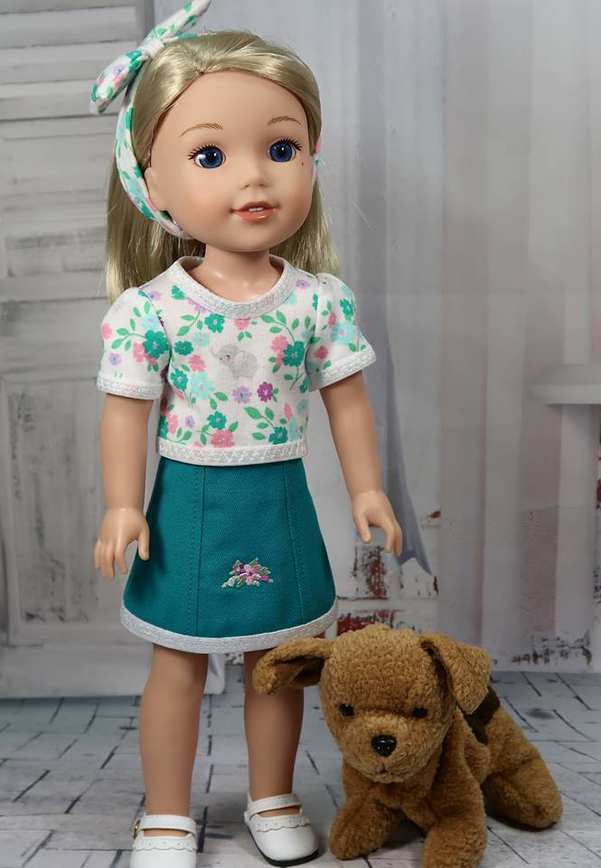 Best sewing patterns for 18 inch dolls like American Girl and 14 inch dolls like Wellie Wishers from OhSewKat. Find easy sewing patterns to download and print at home. Easy to sew, fun to make! #18inchdoll #sewingpattern #welliewishers #ohsewkat