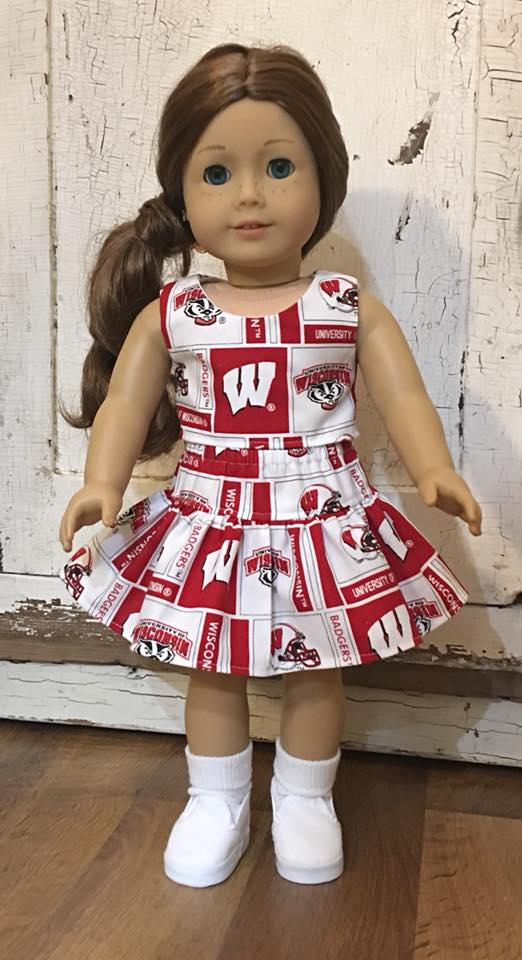 Wisconsin Badgers doll skirt