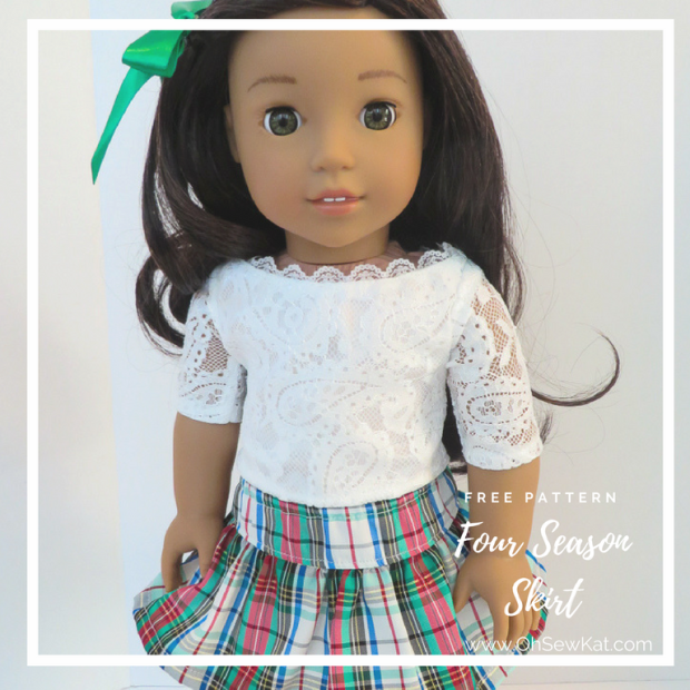 Free sewing pattern for dolls by OH Sew Kat!