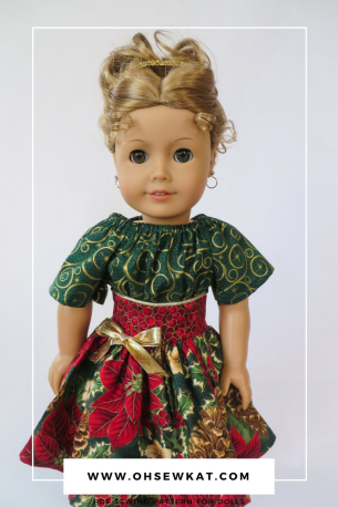 Holiday doll dresses with Oh Sew Kat! sewing patterns (3)