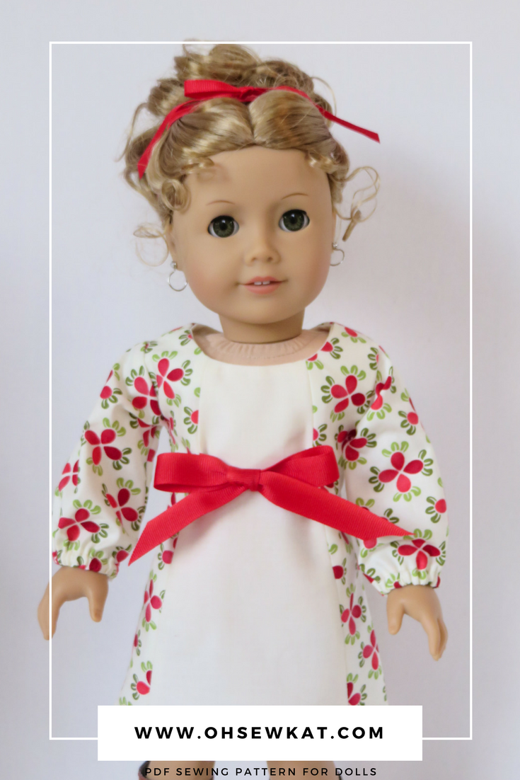 Holiday doll dresses with Oh Sew Kat! sewing patterns (8)