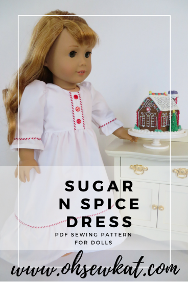 Nightgown sewing pattern tutorial for 18 inch dolls