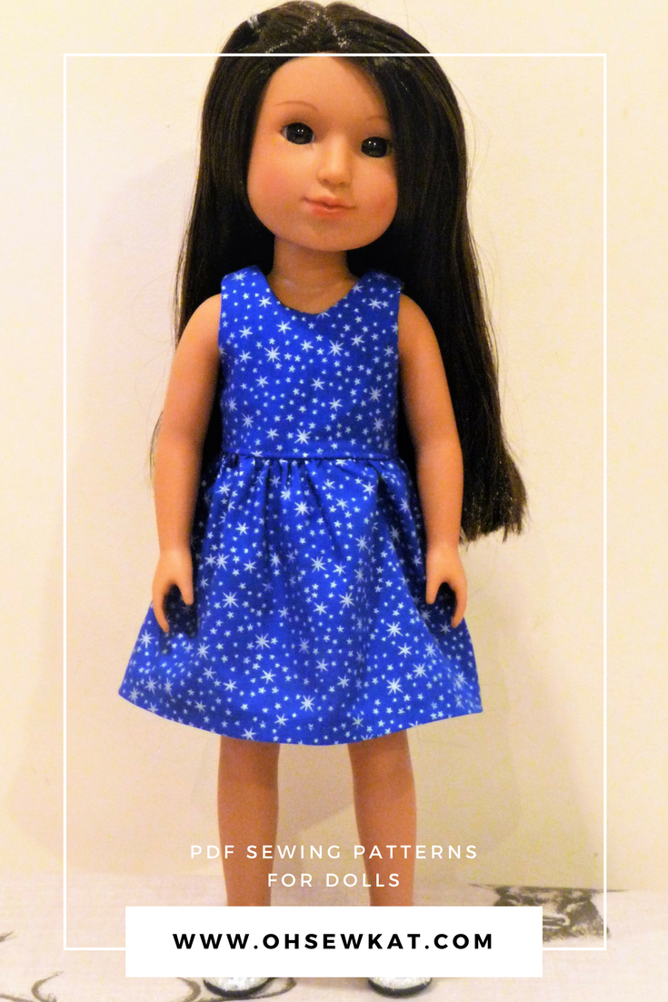 Holiday dresses for dolls by Oh Sew Kat! (1)