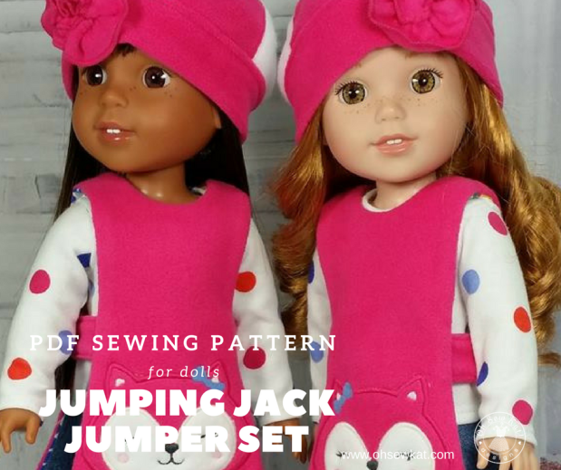 Sewing pattern for dolls by oh sew kat