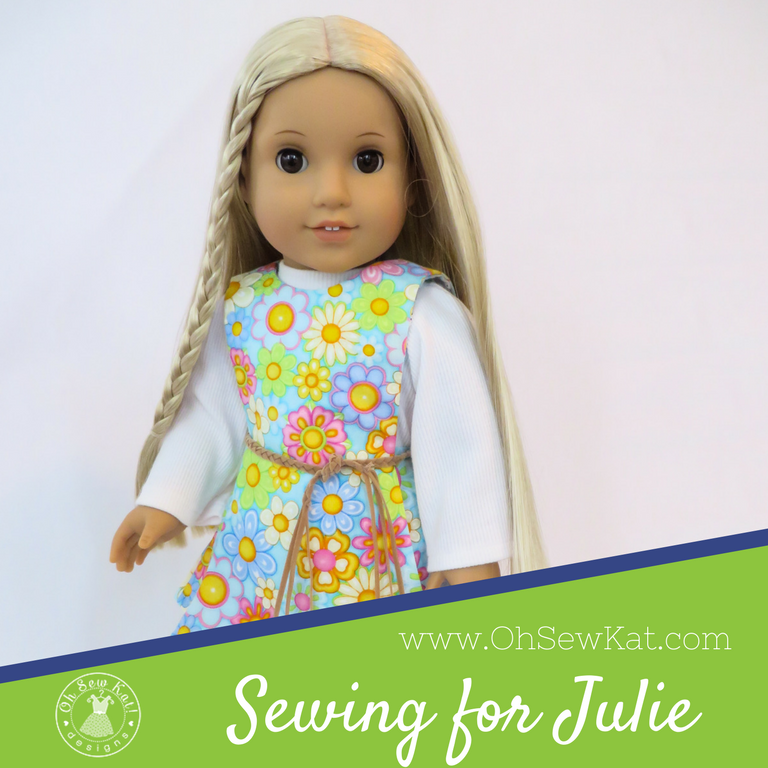 American Girl doll Julie Albright sewing patterns