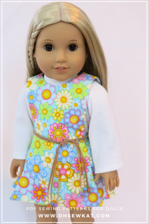 Sewing pattern for doll clothes for Julie
