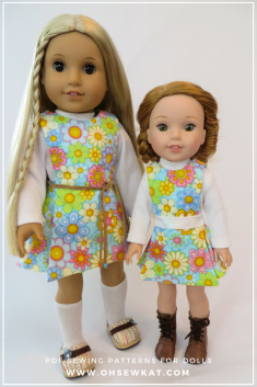 Sewing patterns for doll clothes by OH Sew Kat! (8)