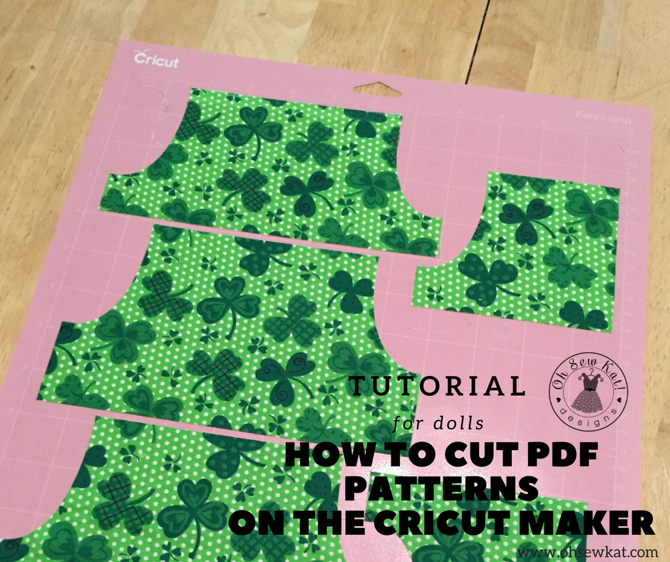 How to cut PDF doll patterns on Cricut Maker