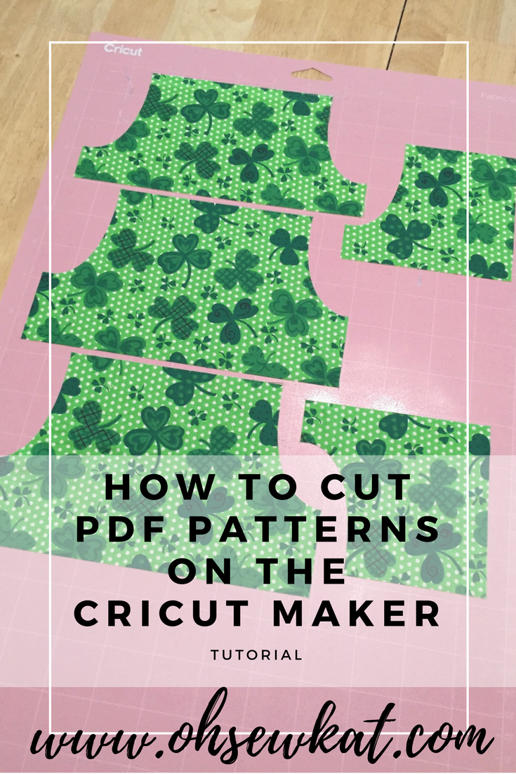 how to cut pdf patterns on the cricut maker tutorial