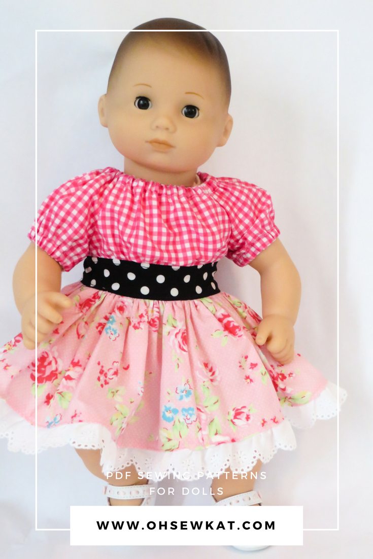 Bitty Baby doll in pink flowered dress