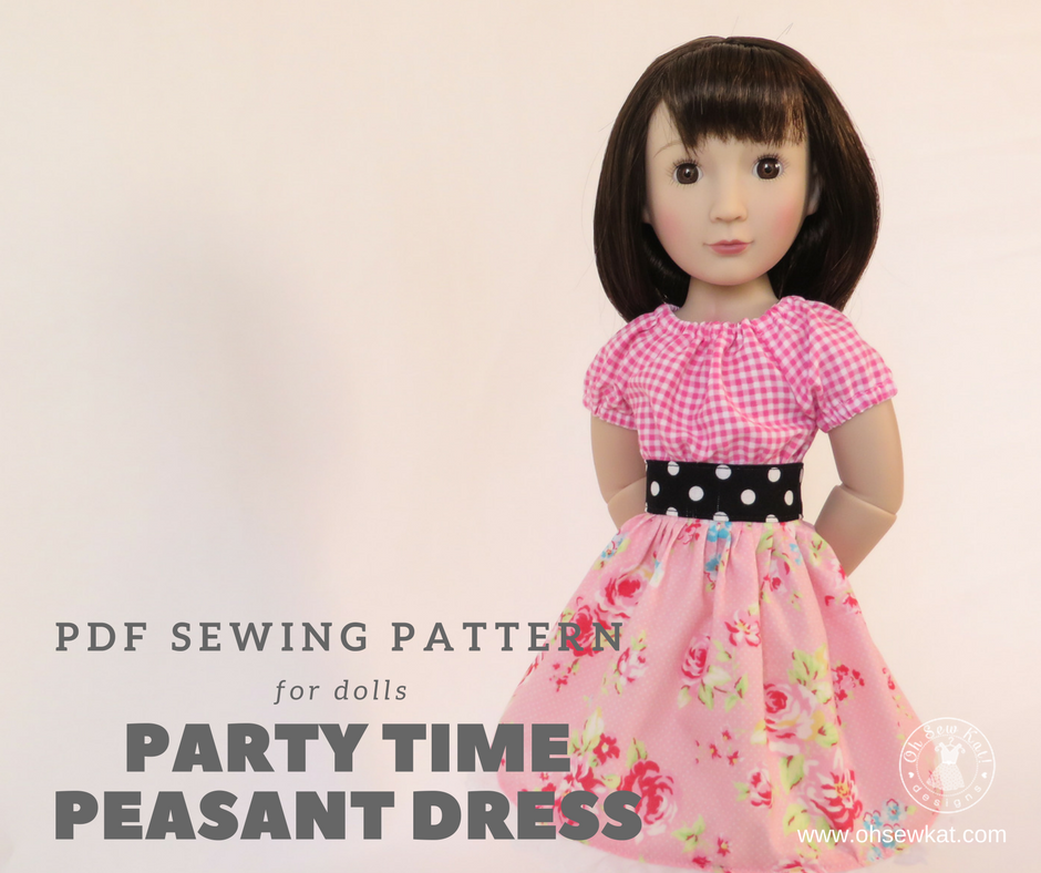 Peasant Dress A girl for all time sewing pattern for dolls
