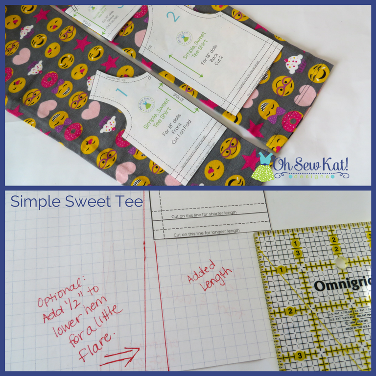 pattern pieces and rulers on fabric to make a new pattern
