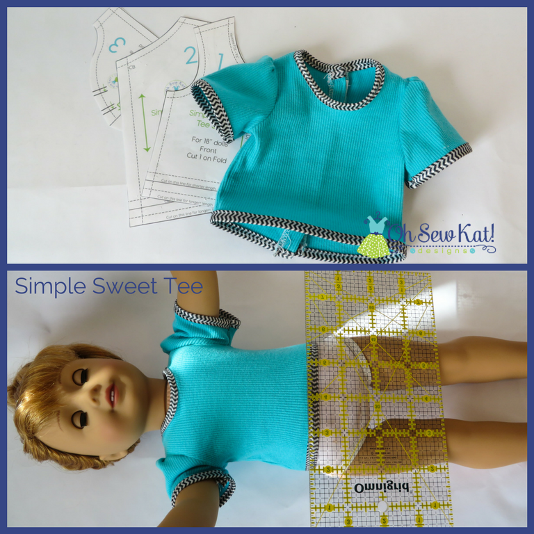 Tee shirt dress tutorial measure your doll