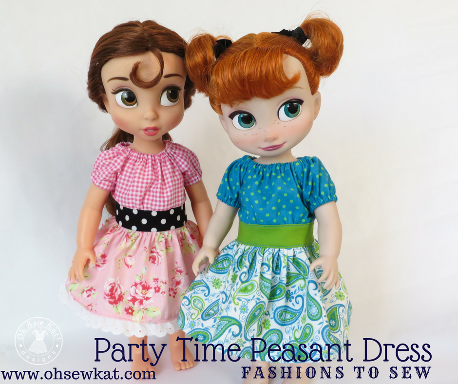 Disney Animators Belle Doll Dress sewing pattern