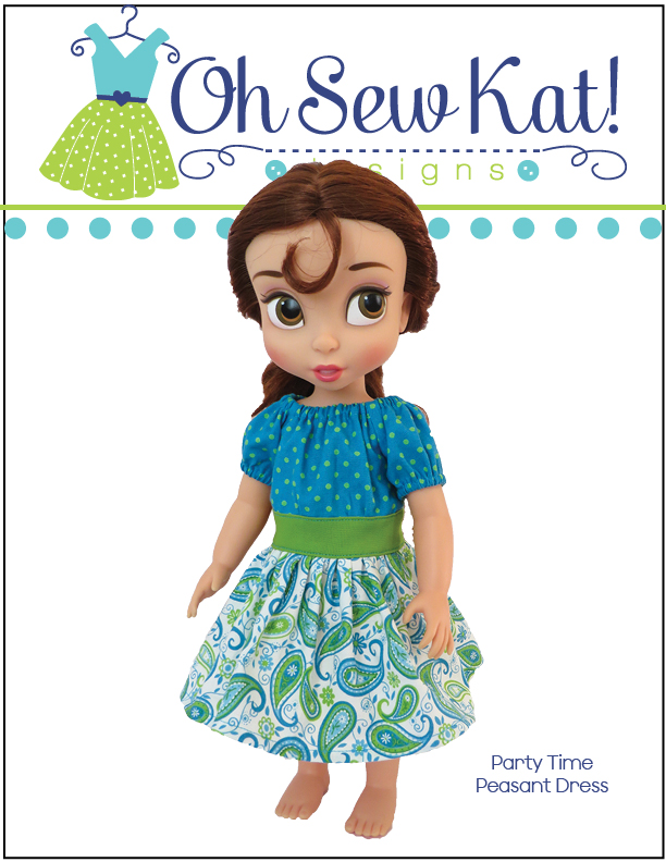 OSK Party Time Peasant Dress Sewing pattern for animators dolls2