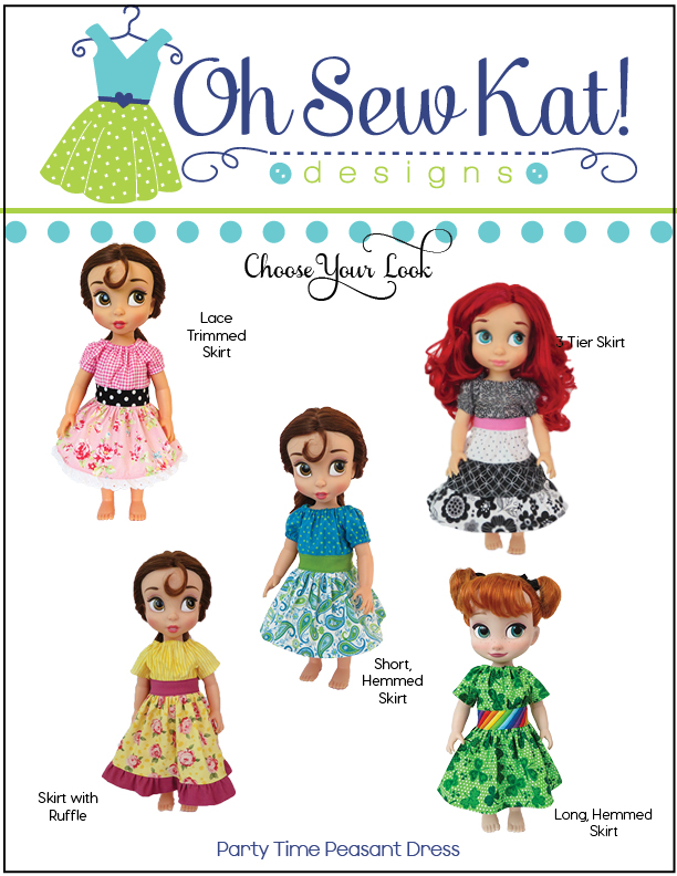 OSK Party Time Peasant Dress Sewing pattern for animators dolls8