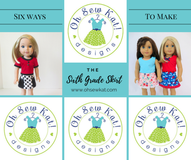 Six ways to sew the Sixth Grade Skirt