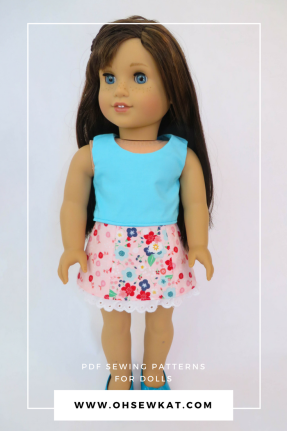 Grace Thomas doll in Sixth Grade Skirt