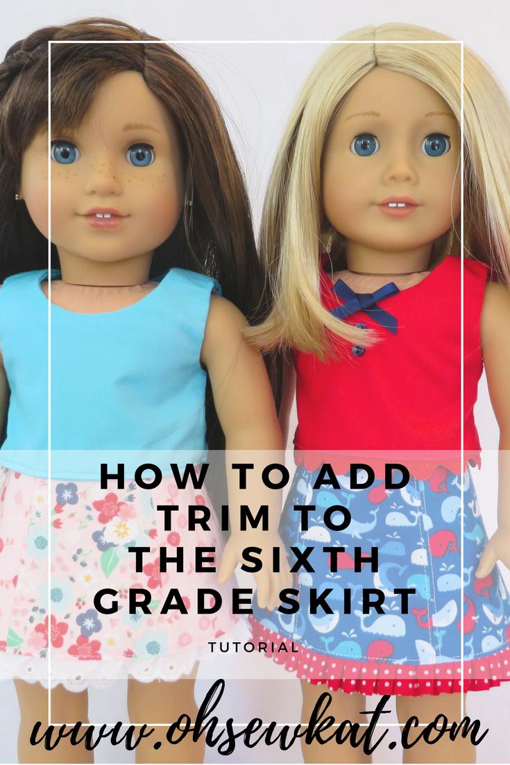 American girl dolls DIY skirt tutorial
