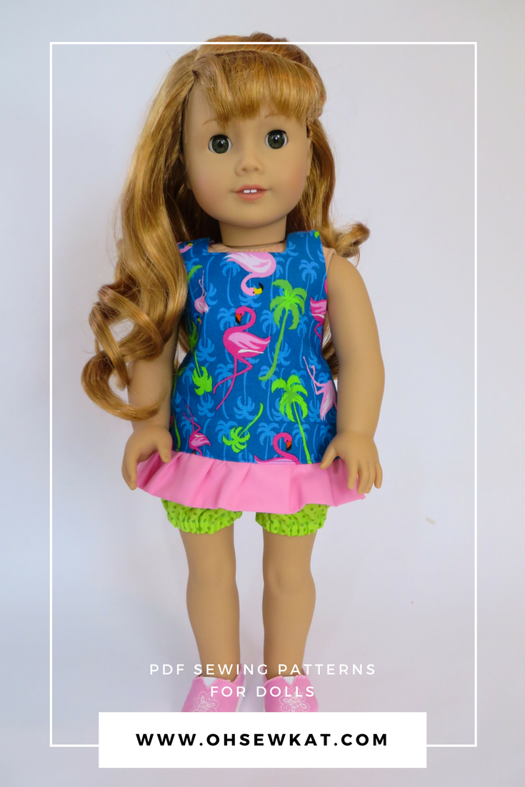 Maryellen American Girl doll in flamingo halter top
