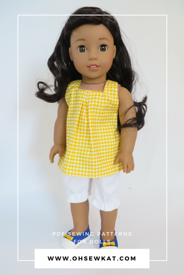 Nanea American Girl doll in halter top and blue tennis shoes