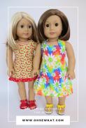 two american girl dolls in halter sundresses