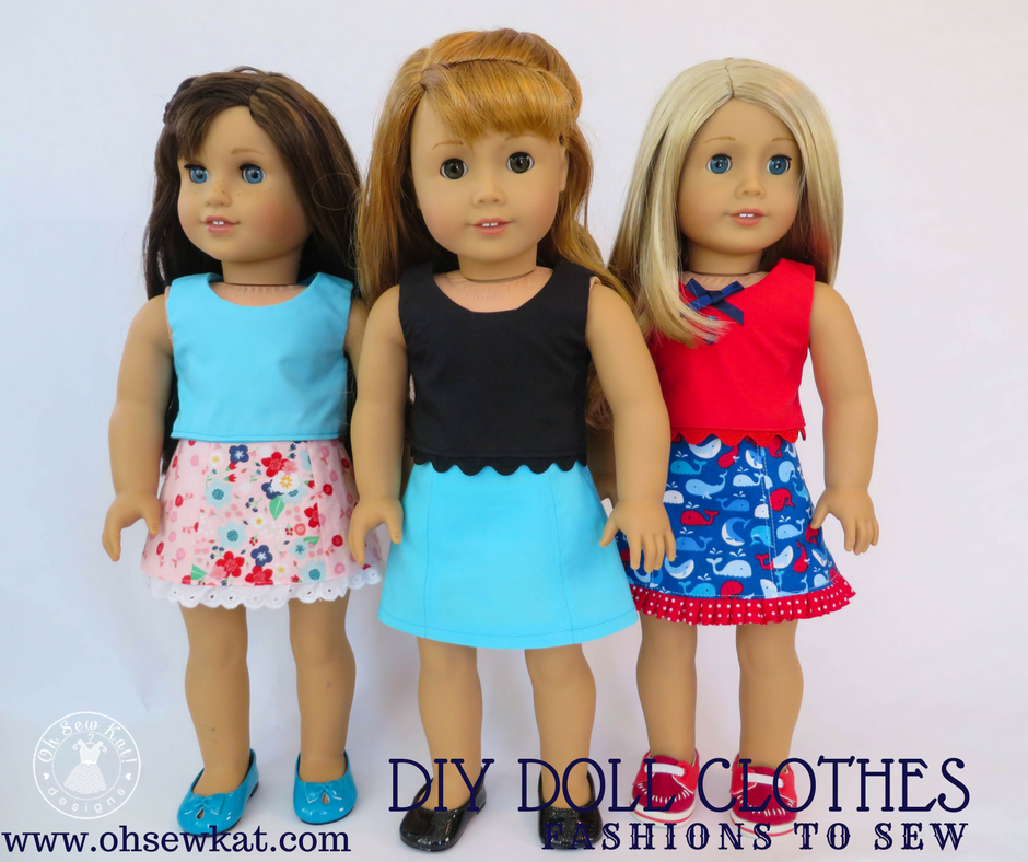 DIy doll clothes bundle discount by oh sew kat