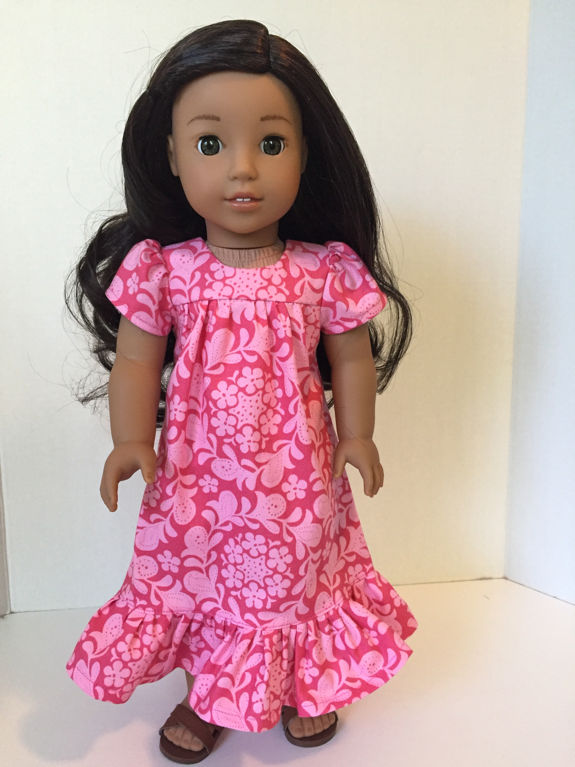 Nanea Mitchell American Girl doll in pink muu muu