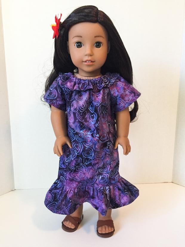 Nanea American Girl doll in purple muu muu dress