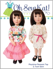 A Girl for All Time doll sewing pattern peasant top