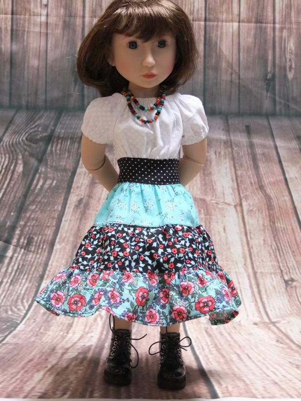 A Girl for All Time doll Maya in peasant dress