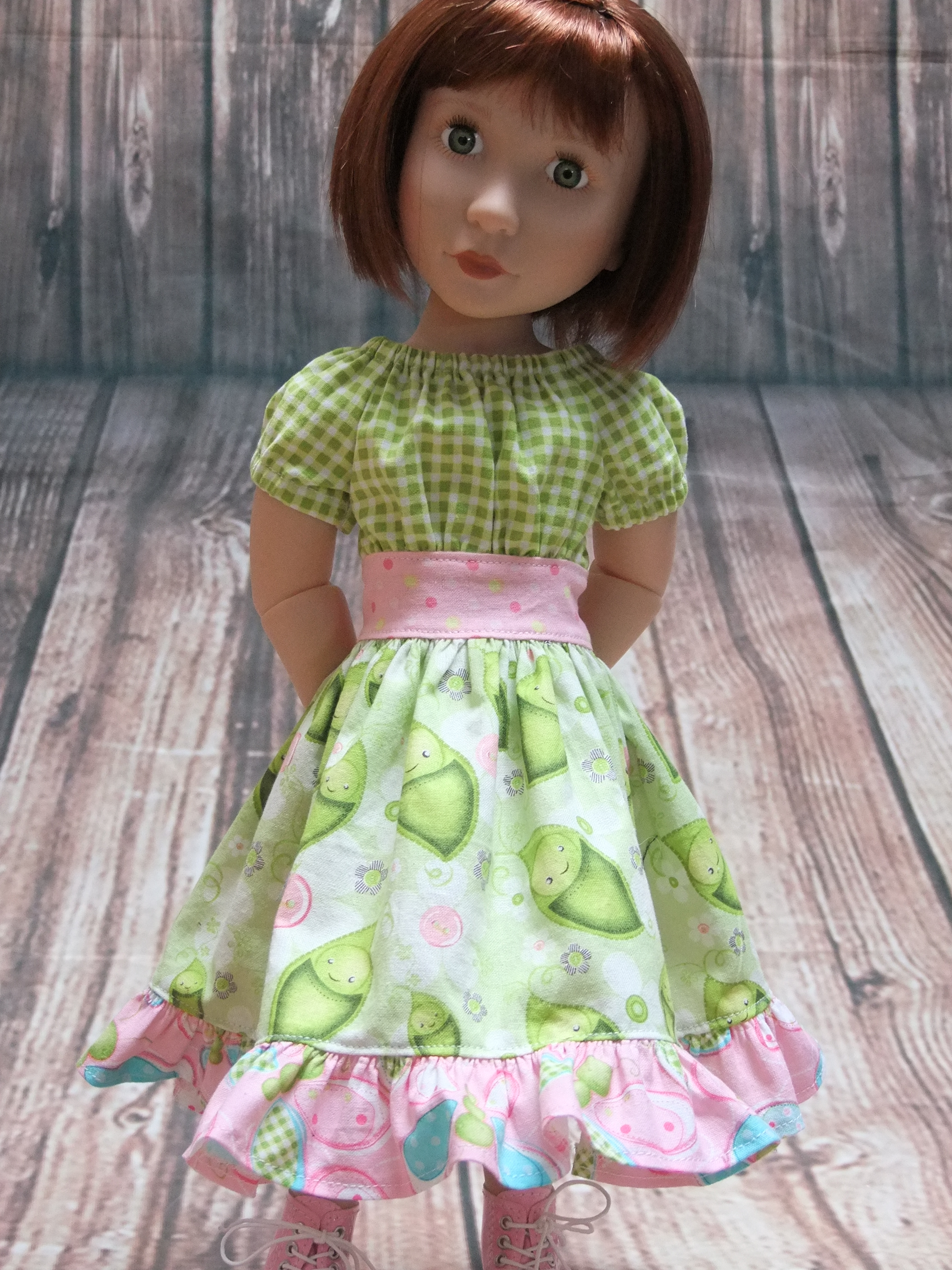 Clementine Doll in Party Time Peasant Doll Dress