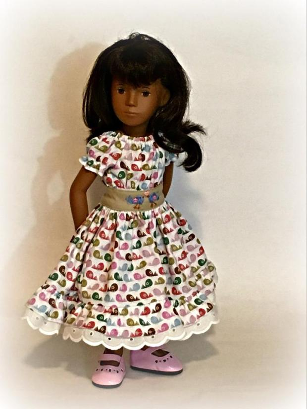 Sasha doll in cream Party Time Peasant Dress