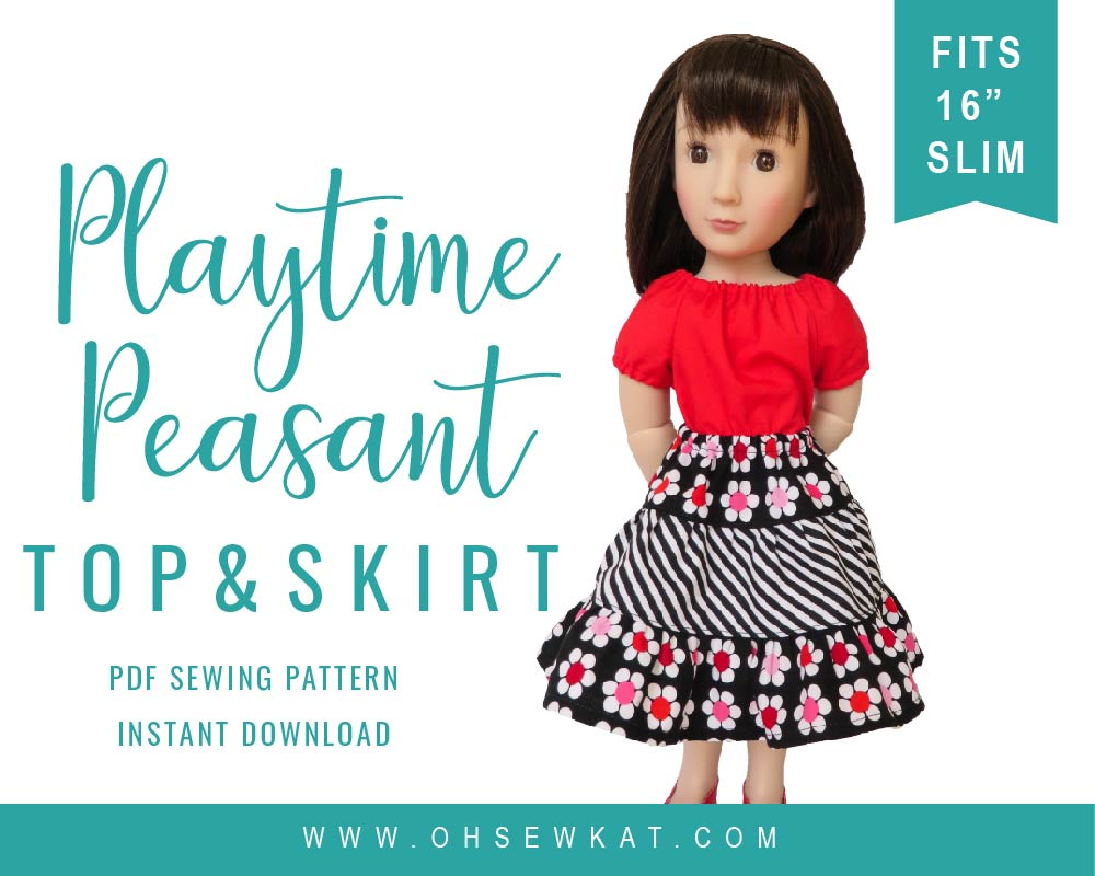 A Girl for All Time Doll Sewing Pattern