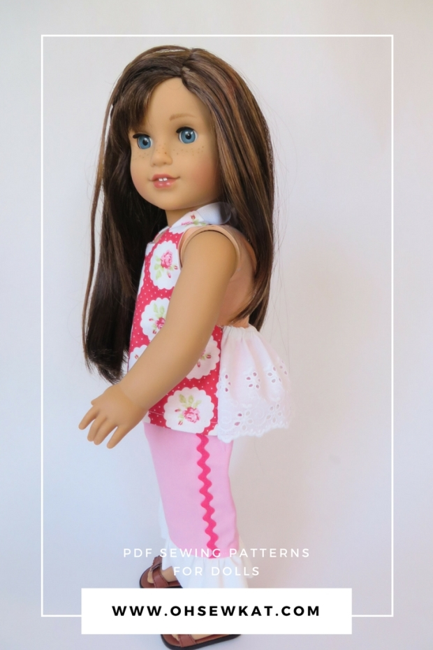 American Girl Doll in Halter Top with lace back