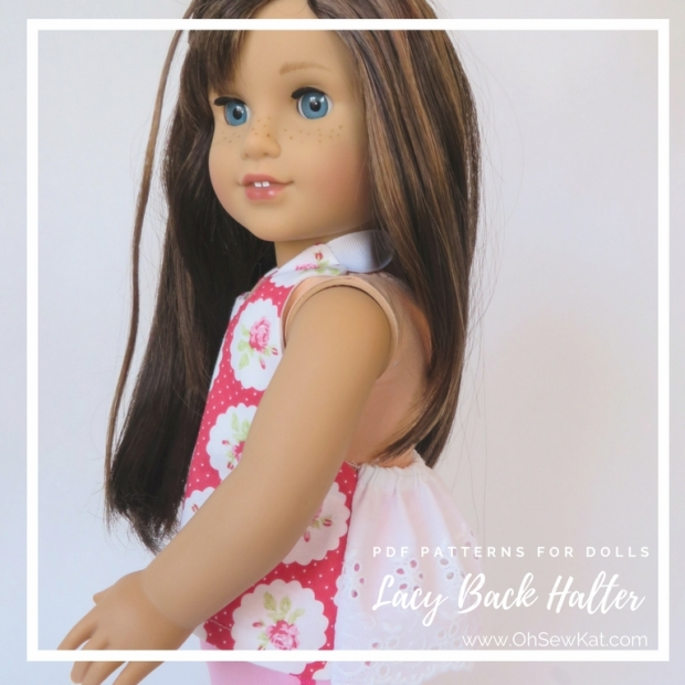 18 inch doll with lace halter top
