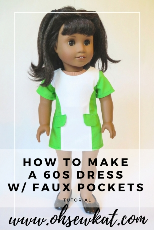 Melody doll 60s doll dress sewing pattern