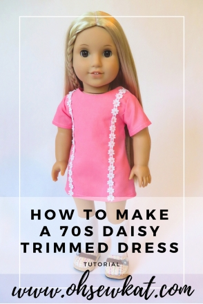 Julie american girl doll in pink daisy trimmed dress
