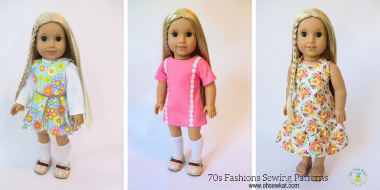 Doll clothes for Julie 70s fashions sewing patterns