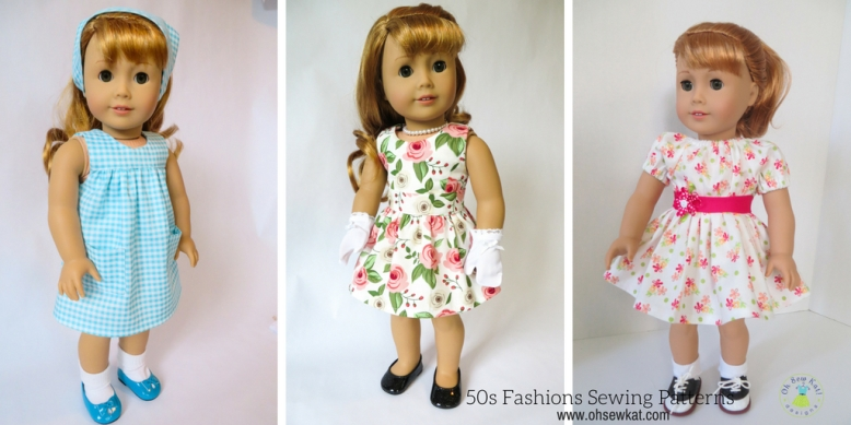 DIY doll clothes 50s fashions Maryellen Larkin